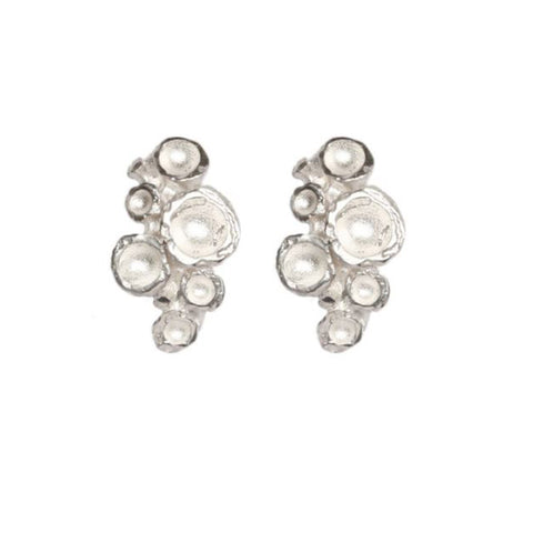 Diana Porter Medium Multi Emerge Stud Silver Earrings