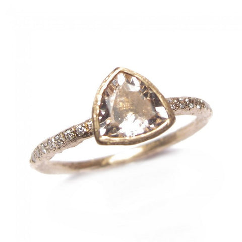 Diana Porter Morganite 18ct Rose Gold Diamond Ring