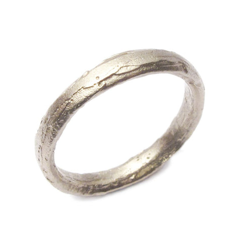 Diana Porter Textured 18ct White Gold Ring