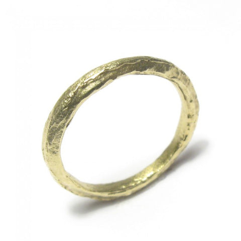 Diana Porter Thin Textured 18ct Yellow Gold Ring