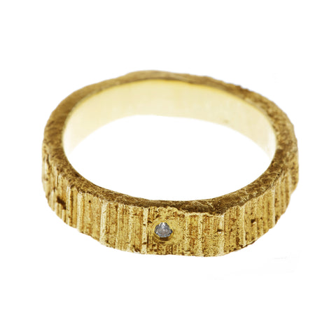Eily O Connell 'Barking mad about you' 18ct Yellow Gold Band with Diamond