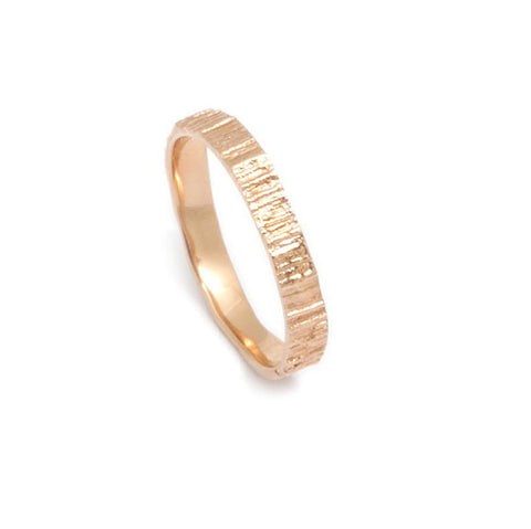 Eily O'Connell 'Bark' Rose Gold Plated Silver Ring