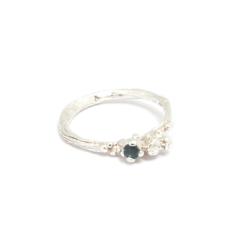 Eily O'Connell Berries Sapphire Silver Ring