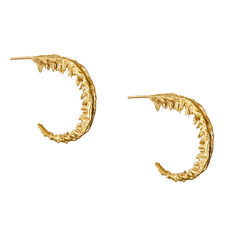 Eily O'Connell Fern Gold Plated Silver Earrings