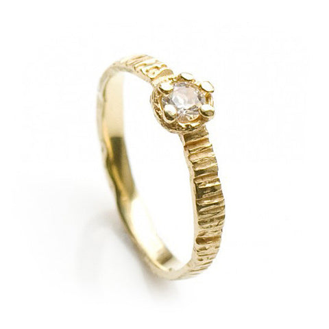 Eily O Connell Sunbark 18ct Yellow Gold Diamond Ring