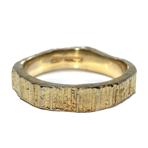Eily O'Connell 4mm Bark 18ct Yellow Gold Ring
