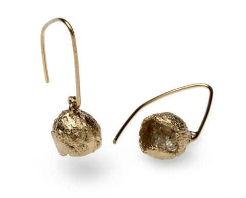 Eily O'Connell Nut Gold Plated Silver Earrings