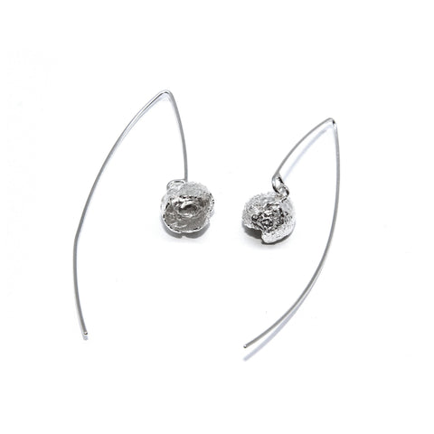 Eily O'Connell Nut Silver Earrings