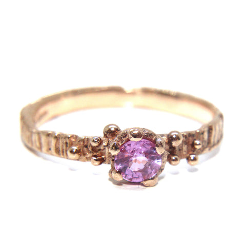 Eily O'Connell Sunbark Pink Sapphire 18ct Yellow Gold Ring