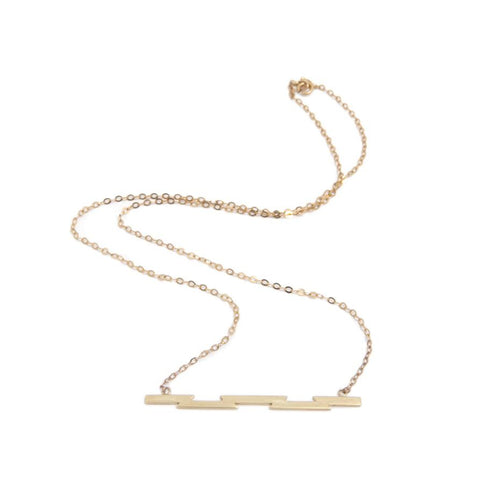 Ella Green 'Razor' Bar  9ct Rose Gold Necklace