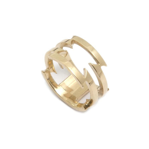 Ella Green 'Razor' 9ct Yellow Gold Ring