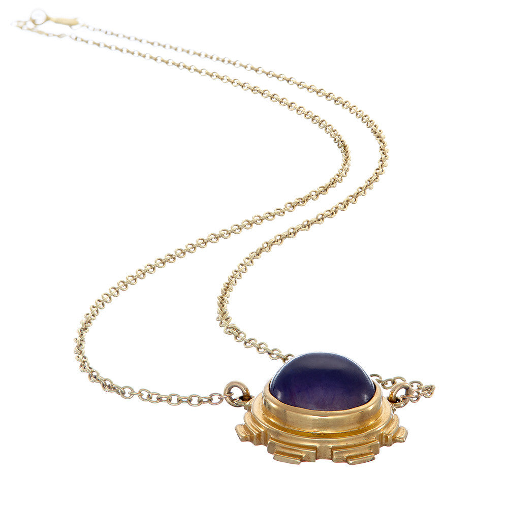 necklace iolite and diamond asp p
