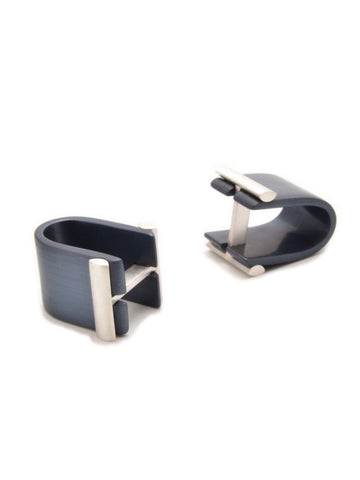 Filip Vanas Affinor Grey Wrap Around Cufflinks