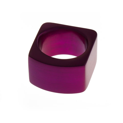 Filip Vanas Round Purple Aluminium Ring