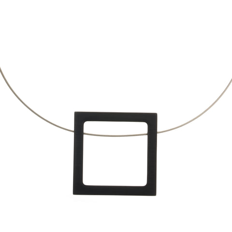 Filip Vanas Black Cube Aluminium Necklace