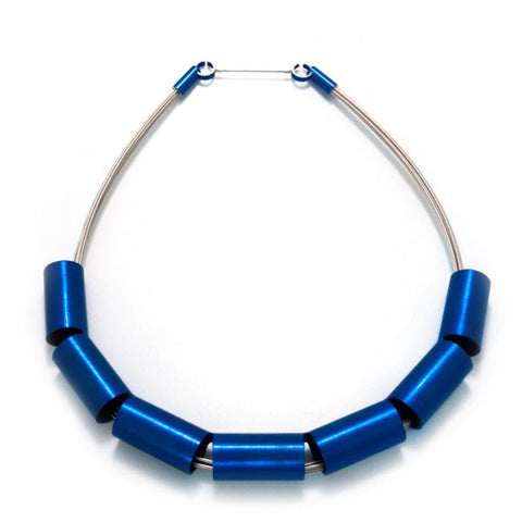 Filip Vanas Blue Aluminium Necklace