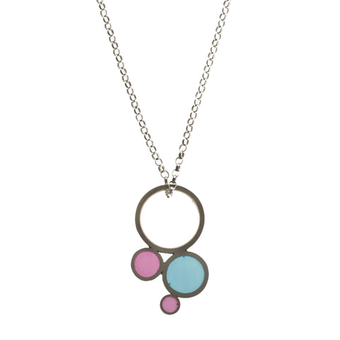 Filip Vanas Blue And Pink Silver Necklace