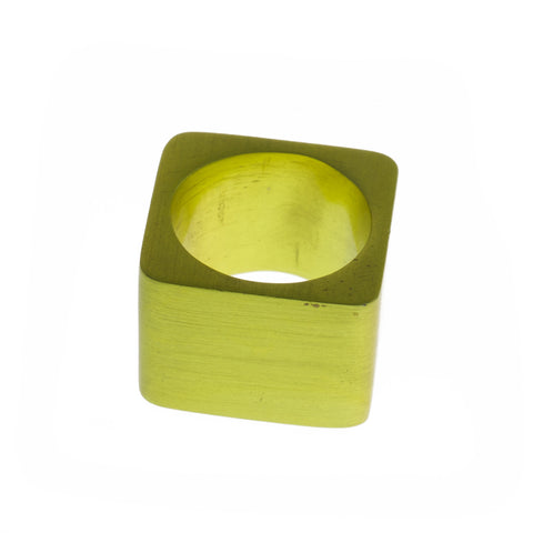 Filip Vanas Flat Top Yellow Aluminium Ring