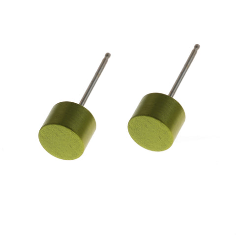 Filip Vanas Green Circle Aluminium Earrings