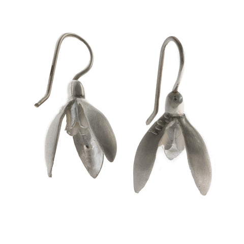 Friederike Grace Snow Drop Silver Earrings