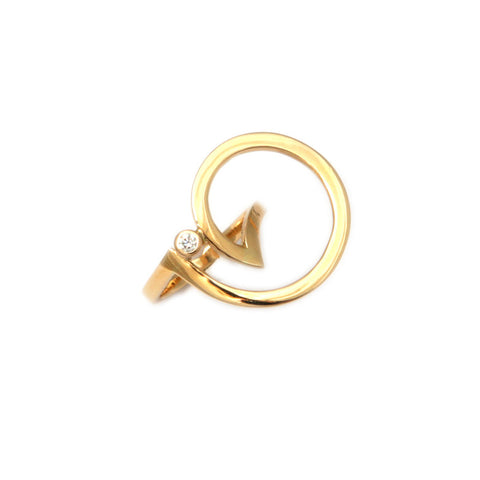 Friederike Grace 'New Moon' 18ct Yellow Gold and Diamond Ring