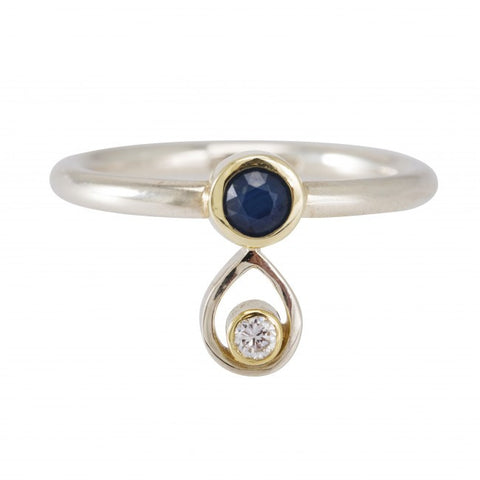 Friederike Grace 0.35ct Blue Sapphire White Gold Ring