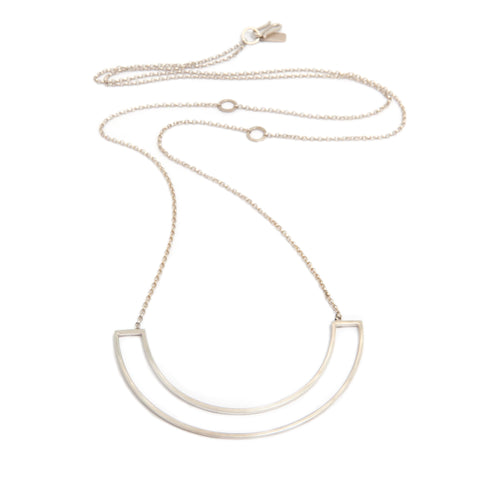 Heather O'Connor Cadence Large Parallel Silver Necklace