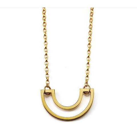 Heather O'Connor Cadence Mini Parallel Gold Plated Silver Necklace