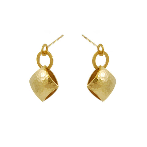 Heather O'Connor Gold Plated Drop Silver Earrings