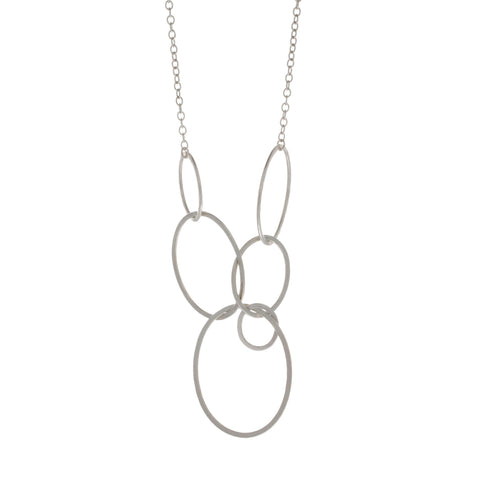 Heather O Connor Medium Oval Wire Links Chain Silver Necklace