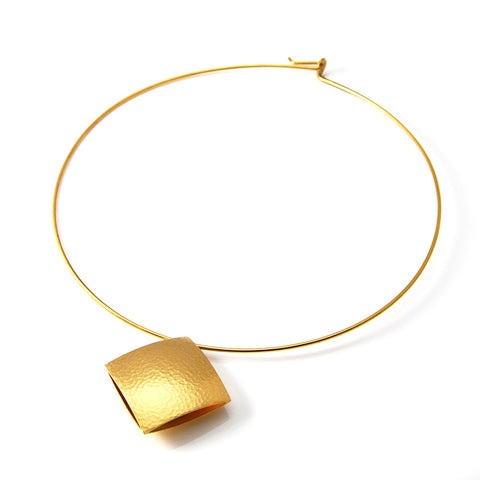 Heather O'Connor Pillow Gold Plated Collar Silver Necklace
