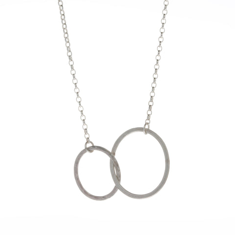 Heather O Connor Silver Double Link Mini Triangle Chain Silver Necklace