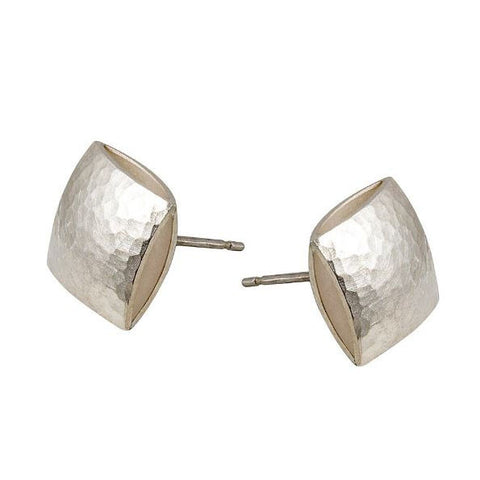 Heather O' Connor Small Pillow Textured Silver Earrings