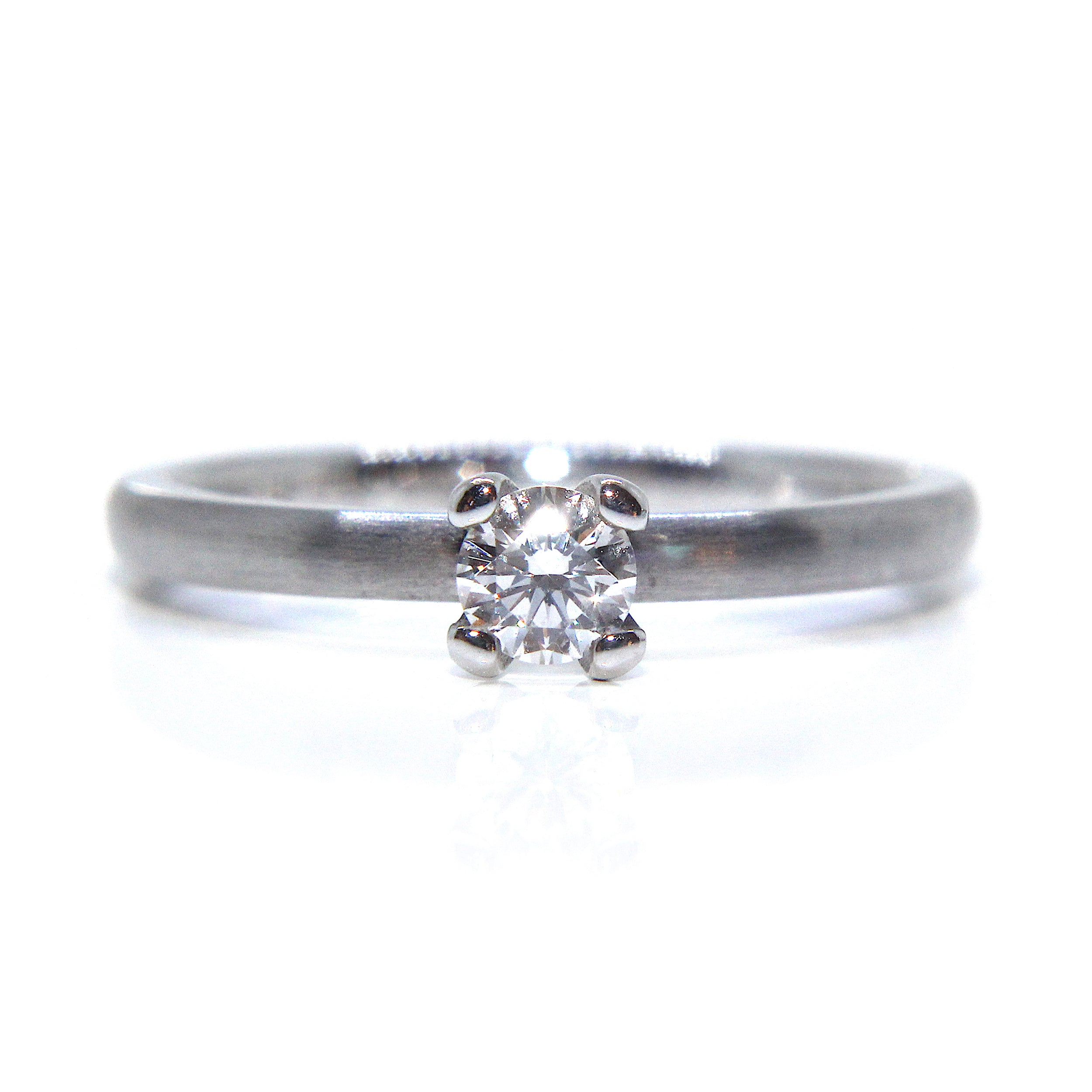 solitaire fetheray ring hand engagement diamond platinum products cut and handmade