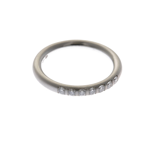Henrich & Denzel Eternity Platinum Seven Brilliant Diamond Ring
