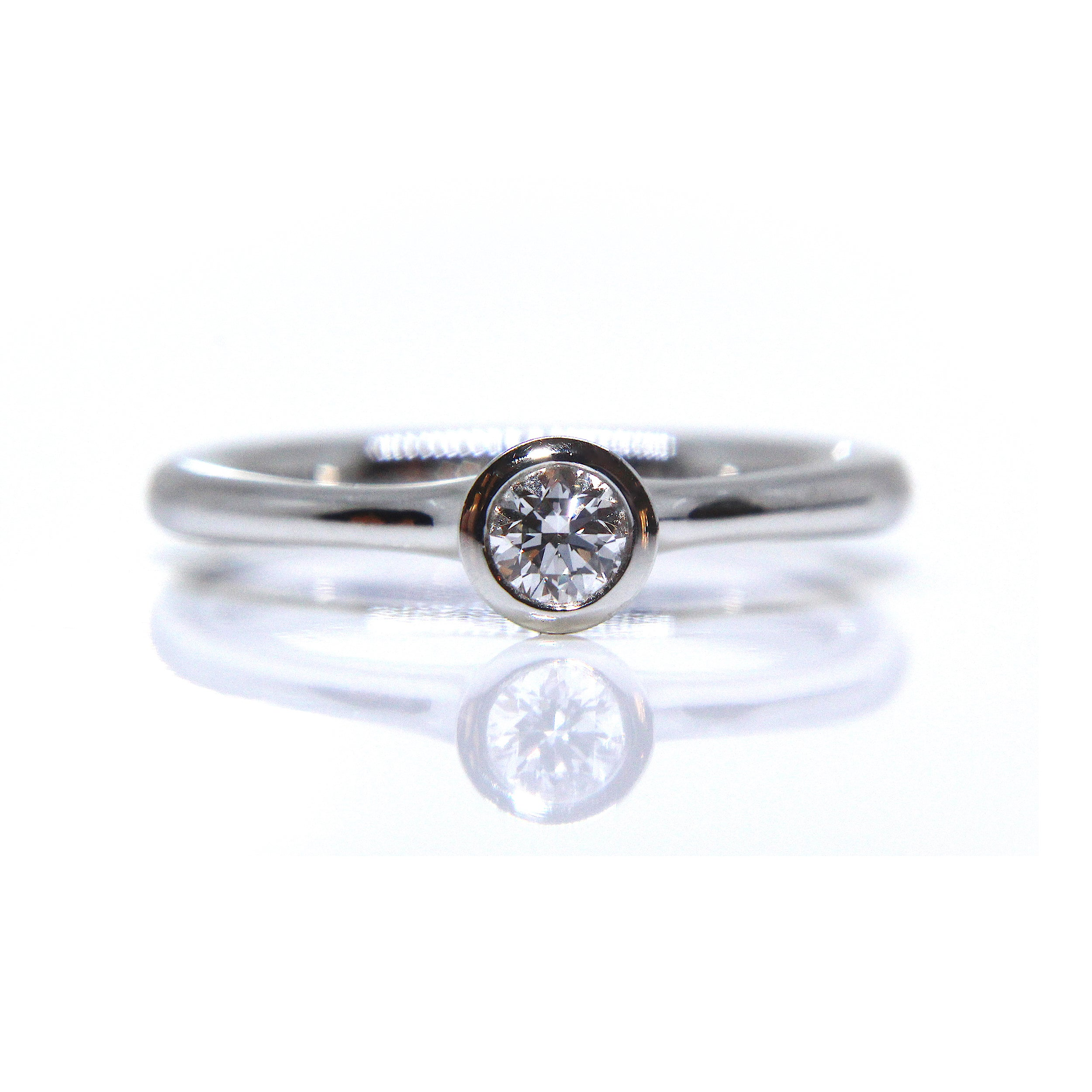 daussi round stone band henri bands seven diamond halo wedding
