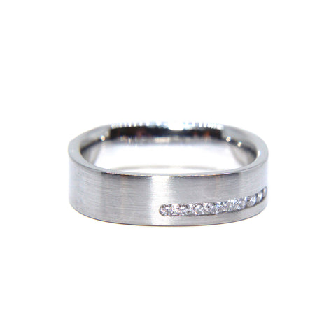 Henrich & Denzel Platinum Silkmatte Diamond Ring