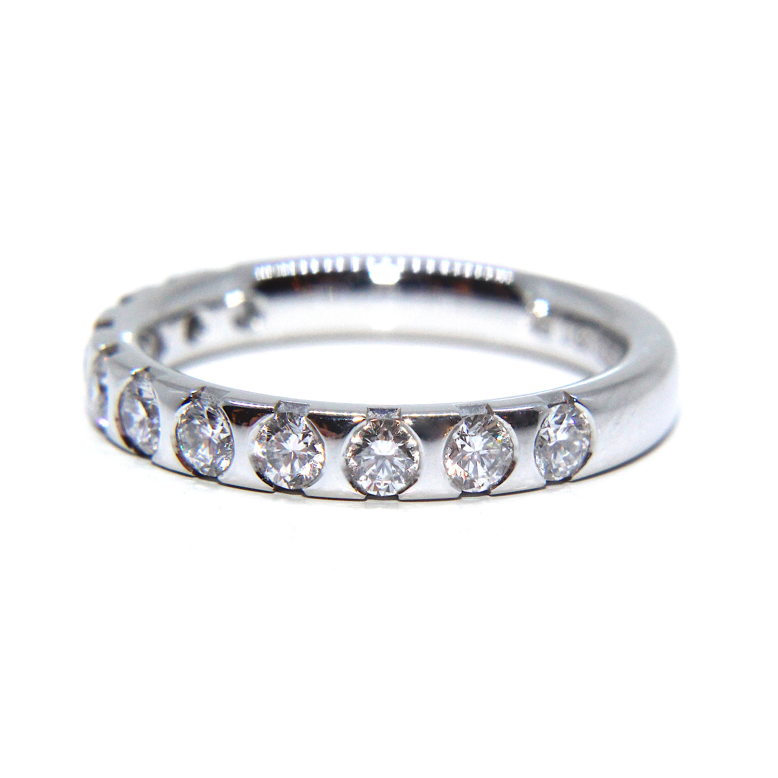 ring watch halo cut by brilliant a set diamond jean eva seamless dousset with engagement round