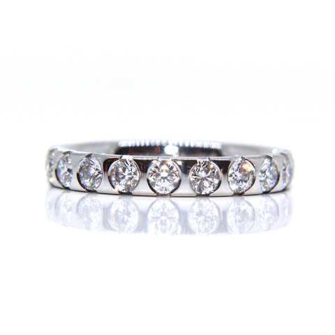 Henrich & Denzel Platinum Eleven Brilliant Cut Diamond Ring