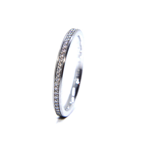 Henrich & Denzel Platinum Narrow Eternity Diamond Ring