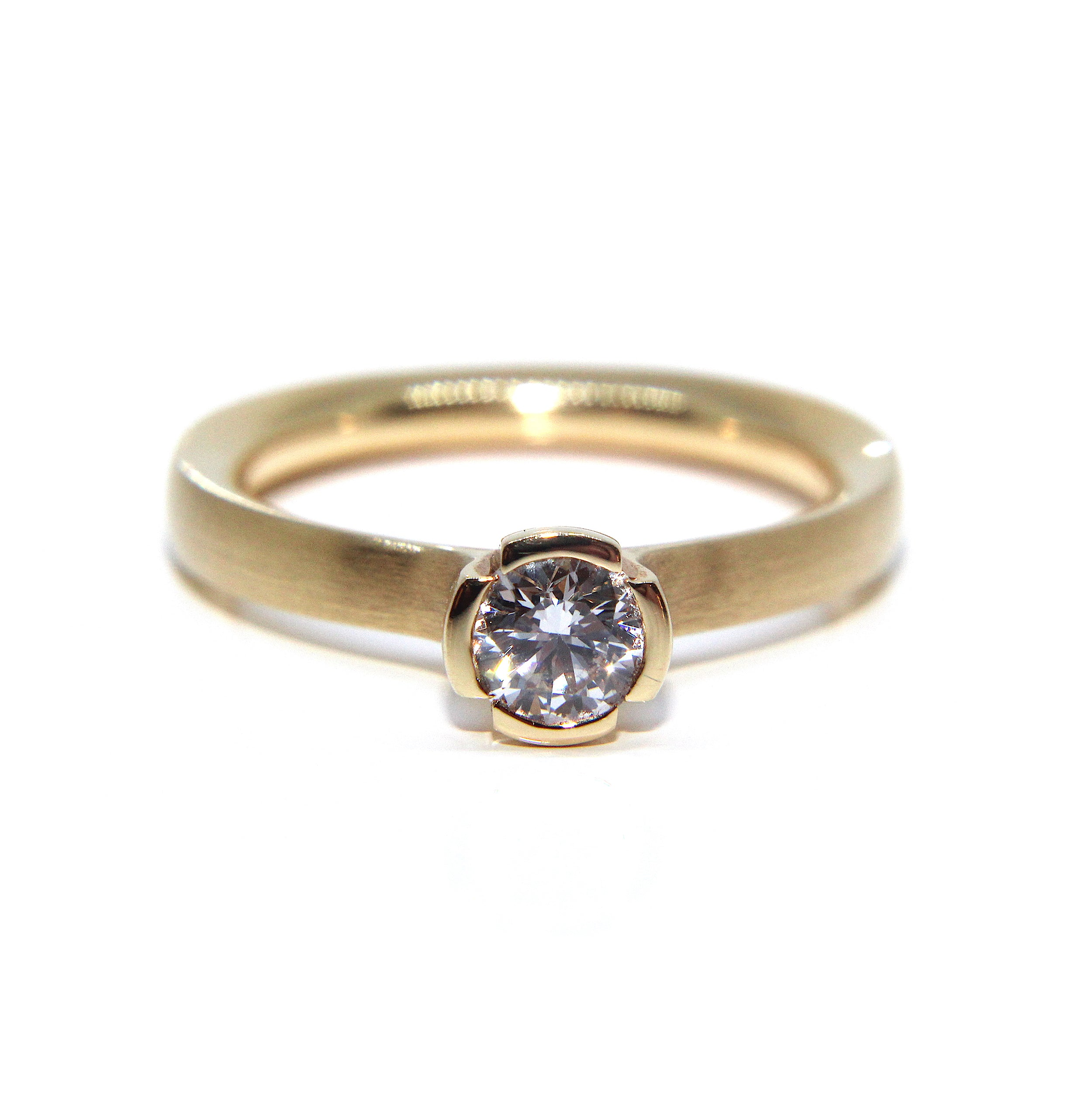 gold ring hannah pin jewellery designer bedford by contemporary rings granulated