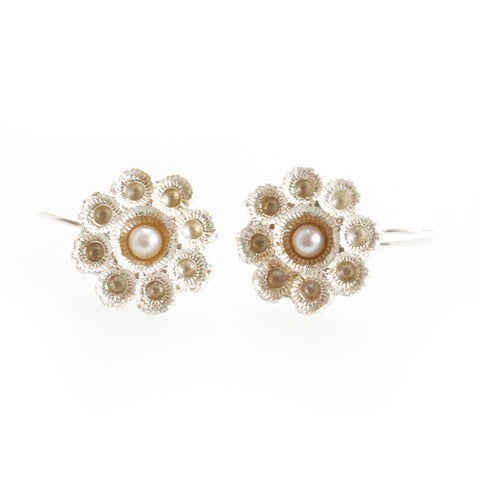 Hester Zagt Barley Pearl Silver Earrings