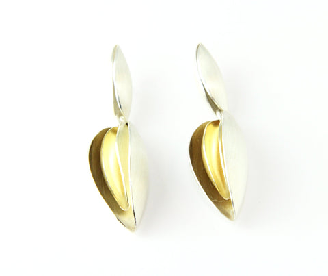Atelier Luz 'Kaurie' Silver and 18ct Yellow Gold Earrings