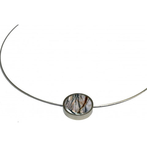 Inga Reed Picasso Jasper Silver Necklace