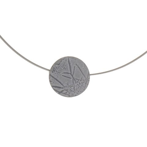 Inga Reed Single Embossed Silver Necklace