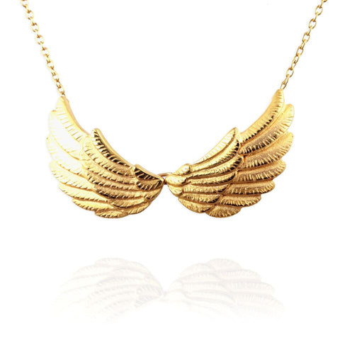 Jana Reinhardt Double Wing Gold Plated Silver Necklace