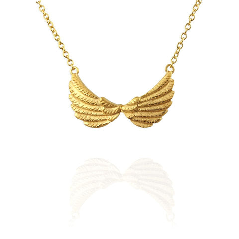 Jana Reinhardt Small Double Wing Gold Plated Silver Necklace