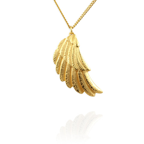 Jana Reinhardt Wing Gold Plated Silver Necklace