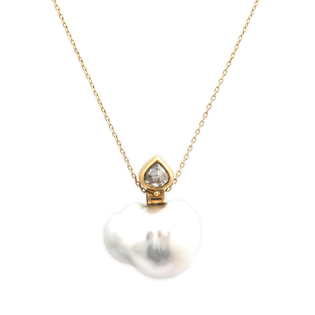 cultured cttw chain pendant yellow pearl diamond necklace com dp black jewelry amazon freshwater gold