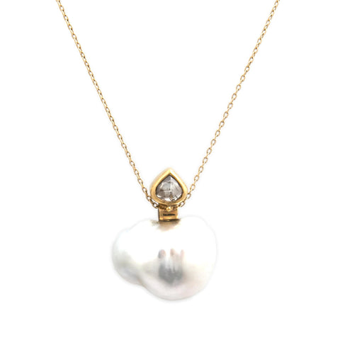 Josephine Bergsoe Gone Fishing 18ct 22ct Gold Pearl Diamond Pendant